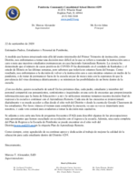 School Reintegration Survey Letter (SPANISH)