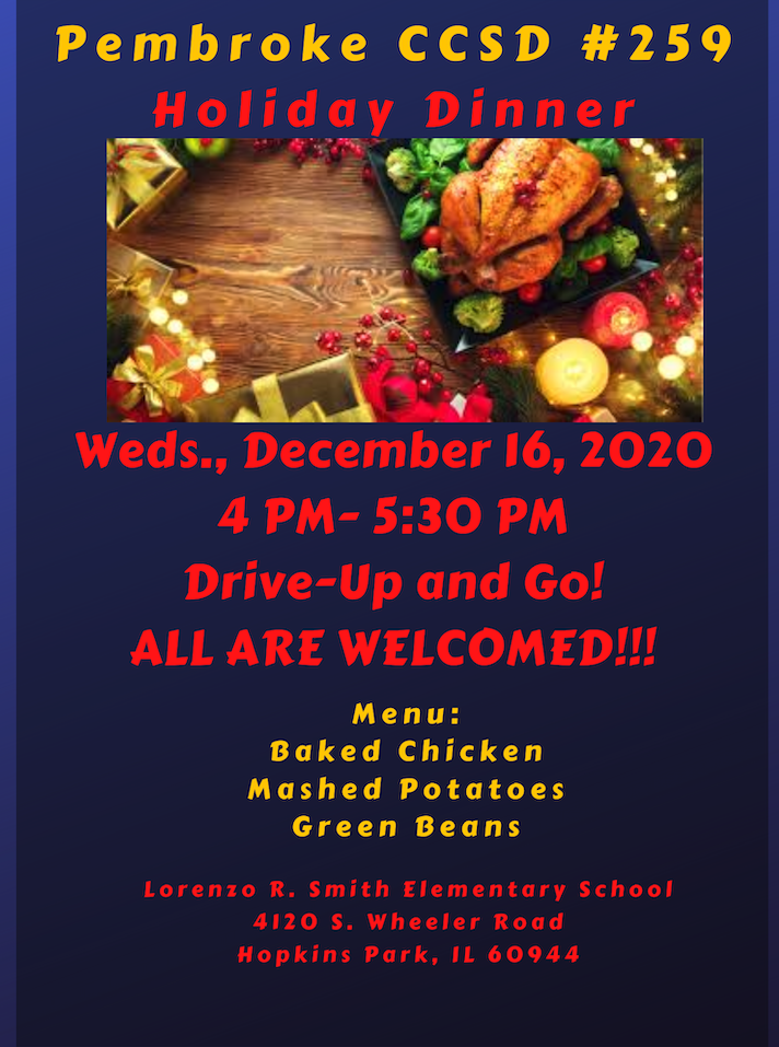 Holiday Dinner Flyer